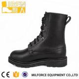 黒い本物牛革安い価格の軍の戦術的な戦闘用ブーツ