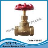 Válvula de batente de bronze da compressão (V23-203)