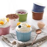 Tazza all'ingrosso del gelato della ciotola della tazza di colore della minestra della torta della tazza della tazza 12oz del gres