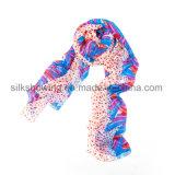 Custom High Quality Lady Silk Chiffon Scarf
