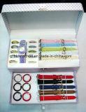 Conjuntos del regalo del reloj de la promoción con las correas y los anillos cambiables