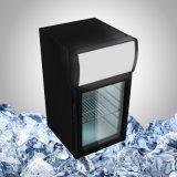 Mini refrigerador Lockable com a porta de vidro transparente para a bebida