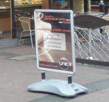 Placa de placa de pavimento, carrinho de cartaz exterior A1