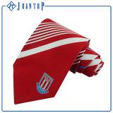 Fabricant d'usine Red Stripe 100% Cravate en soie