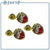 Distintivo personalizzato di Pin di metallo di marchio dell'azienda con la frizione della farfalla