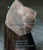 Un orecchio diritto frontale dei 360 merletti all'orecchio con i capelli del bambino