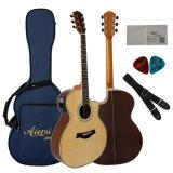 Guitarra acústica elétrica Handmade quente de classe elevada da venda