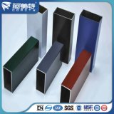 La couleur anodisée a expulsé tube rond de pipe carrée en aluminium