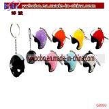 Trousseau de clés principal de promotion de fourrure de lapin d'acheteur de support de Yiwu Chine (G8022)