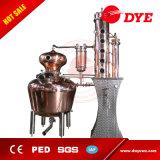 Máquina de la destilación del cobre del equipo de la destilería del ginebra y del whisky 500liter para la venta