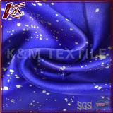 Imprimé brillant en pure soie satinée robe Charmeuse tissu pour les femmes
