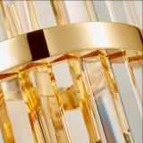 Lámpara de pared cristalina del aplique del poste del hotel moderno de lujo del estilo para la sala de estar