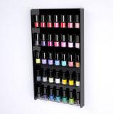 Présentoir acrylique de clou fixé au mur pour le salon de vernis à ongles