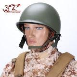 Beweglicher Militärsturzhelm-taktischer schützender Armee-Geräten-Bereich-Grün-allgemeinhinsturzhelm-im Freienarbeitsweg-Installationssätze des stahl-M1