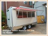 Ys-Fb390f 3.9m de Witte Bestelwagen van het Roomijs van de Aanhangwagen van het Voedsel van de Vrachtwagen van het Voedsel Mobiele