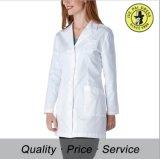 Couche uniforme de laboratoire de femmes d'infirmière d'hôpital blanc uniforme de coton