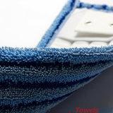 Blaues haltbares Microfiber, das flach nassen Mopp mit Tasche scheuert