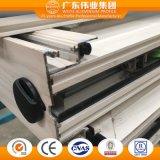 Portello di alluminio del grano di legno del fornitore di Guangzhou con la rete di zanzara Flyscreen