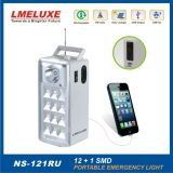 Luz Emergency de radio recargable del USB de SMD LED FM