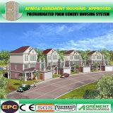 Edificio modular prefabricado prefabricado de la estructura del marco de acero del taller y del almacén