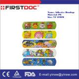 Bandages assortis d'adhésif de dessin animé de Medtoons de plâtre de dessin animé de PE de 72X19mm