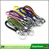 Colori di Weave Leather Keychain