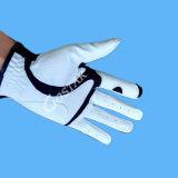 Белая перчатка гольфа размера PU синтетическая кожаный свободно