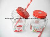 Tasse du cadeau 16oz de Noël de vente/cuvette potables chaudes de traitement avec la paille
