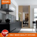 塗る黒い2つのパックの家具の台所食器棚