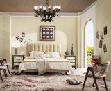Foshan-Hauptmöbel-Holzrahmen-König Size Soft Leather Bed