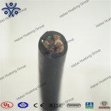 600V indiqué par UL 3 creuse le câble portatif de cordon de 18 A.W.G. Soow fabriqué en Chine