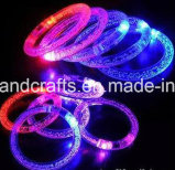 Wristbands изготовленный на заказ полиэфира проблескивая СИД