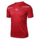 Gli sport asciutti rapidi correnti personalizzati bruscamente collegano le magliette con un manicotto degli uomini di Footbale
