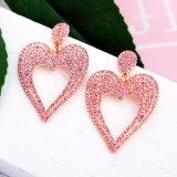 Elegant New Inlaid Rhinestone Lovely Heart-Shaped Alloy Women' S Earrings