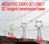Megatro 330kv 3A3-Zm3 Scのタンジェント伝達タワー