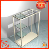 Présentoir en acier inoxydable avec support de verre