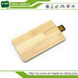 Mecanismo impulsor de madera del flash del USB del palillo del USB de la tarjeta del USB