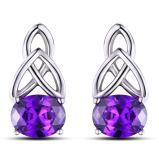 Oorringen van de Nagel van het Kristal van de Juwelen van de manier de Zilver Geplateerde voor Vrouwen