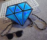 De Zak van het Getijde van de Zak van de Schouder van de Laser van de Diamant van het Leer van de Vrije tijd Pu van de manier