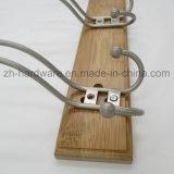 나무로 되는 고급 아름다운 옷 훅 & 금속 널 훅 (ZH-7011A)