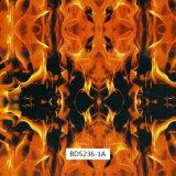 Pellicole ardenti di stampa di Hydrographics del reticolo del fuoco per i pattini di rullo ed il motorino (BDSA621-1)