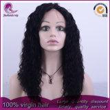 China el pelo largo rizado Virgen frente encaje peluca