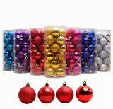 24pcs/Set Décoration de Noël 4/6/8 cm de billes de l'arbre de Noël Boules de Noël Home Party