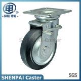 4 Zoll schwarzer Stahl-Kern Gummischwenker-Fußrolle