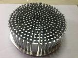 Kaltes Schmieden-Aluminiumkühlkörper mit der silbernen Anodisierung