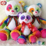 Urso macio popular famoso do luxuoso do brinquedo do projeto novo colorido do arco-íris