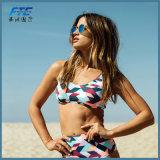 De hoge Bikini van de Taille die plus Badpak van de Bustehouder van Swimwear van de Grootte het Grote wordt geplaatst