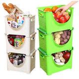 Podem ser empilhados para receber gente receber uma cesta de frutas e vegetais em plástico da cesta da Cesta