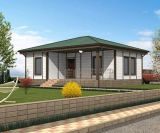 Einfach helles Stahlkonstruktion-vorfabriziertes Haus (KXD-SSB112) zusammenbauen