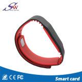 Bracelet fait sur commande Ntag203 Ntag213 Natg215 de silicones d'IDENTIFICATION RF de trousseau de clés d'à haute fréquence